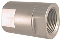 015 SERIES STAINLESS POPPET CHECK VALVE